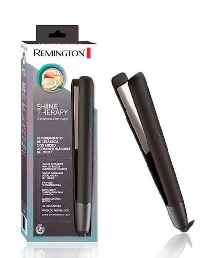 Plancha Remington con placas de céramica con Coco  Coconut Therapy