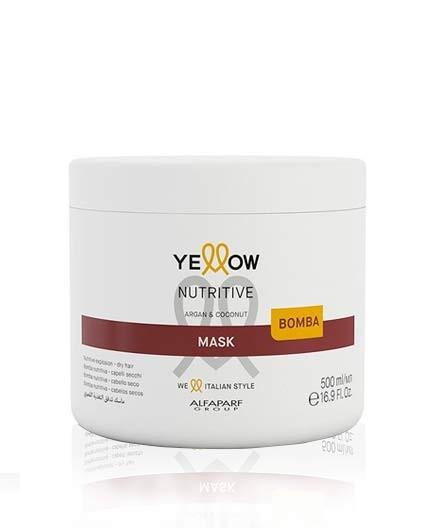 Mascarilla Nutritiva para Cabellos Secos Yellow